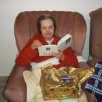 ABSA. Barbara Swanepoel enjoys her gift